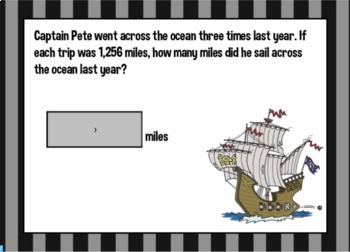 Advanced (4th and5th grade) Multiplication Word Problem Boom Cards