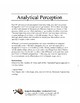 Advanced Analytical Perception - Part / Whole Relationships Lesson Pack 1