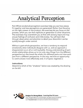 Advanced Analytical Perception - Part / Whole Relationships Lesson Pack 2