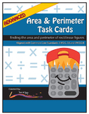 Perimeter and Area Task Cards – Advanced Level: Rectilinear Figures