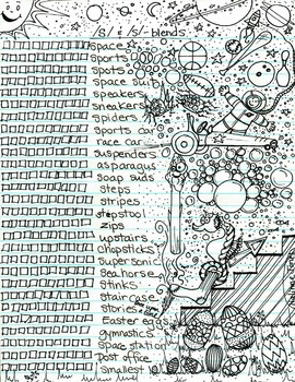 Advanced Articulation - S-blends - Coloring Sheet Checklist - Phonology