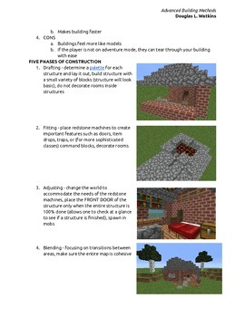 Advanced Building Methods in Minecraft
