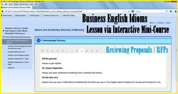 Advanced Business English Idioms Reviewing Proposals Interactive Mini-Course