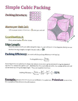 Advanced Chemistry Lecture Notes--Solids