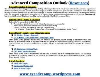 Advanced Composition Lesson Plans (Year)