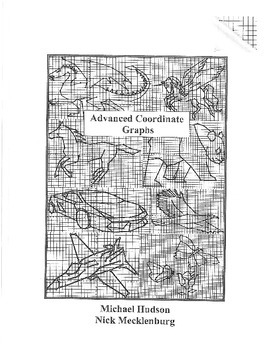 Advanced Coordinate Cartoon Graphs - Mini Book - Animals #2