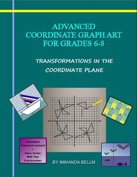 Advanced Coordinate Graph Art for Grades 6-8: Full eBook