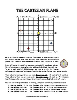 Advanced Coordinate Graph Art for Grades 6-8: Review the Basics (Section 1)