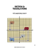 Advanced Coordinate Graph Art for Grades 6-8: Translations (Section 2)