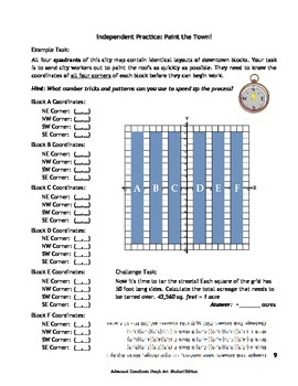 Advanced Coordinate Graph Art for Grades 6-8: Student Edition