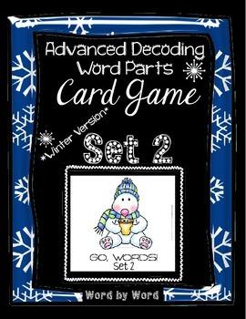Decoding Multisyllabic Words WORD PARTS CARD GAME WINTER SET 2 Intervention