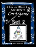 Decoding Multisyllabic Words WORD PARTS CARD GAME WINTER S