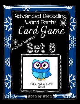 Decoding Multisyllabic Words WORD PARTS CARD GAME WINTER SET 6 Intervention