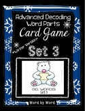 Decoding Multisyllabic Words WORD PARTS CARD GAME WINTER SET 3 Intervention