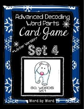 Decoding Multisyllabic Words WORD PARTS CARD GAME WINTER SET 4 Intervention