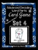 Decoding Multisyllabic Words WORD PARTS CARD GAME WINTER SET 4 Intervention