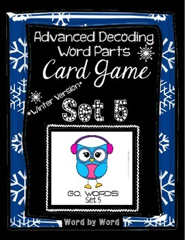 Decoding Multisyllabic Words WORD PARTS CARD GAME WINTER SET 5 Intervention