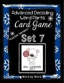 Decoding Multisyllabic Words WORD PARTS CARD GAME WINTER SET 7 Intervention