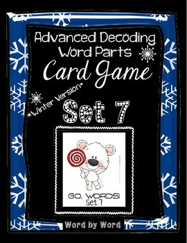 Decoding Multisyllabic Words WORD PARTS CARD GAME WINTER SET 7 Intervention
