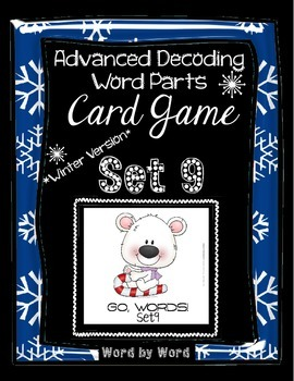 Decoding Multisyllabic Words WORD PARTS CARD GAME WINTER SET 9 Intervention