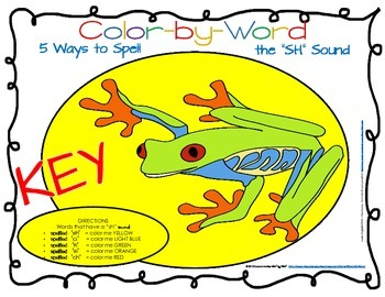 """Decoding Multisyllabic Words COLOR BY PART 5 WAYS TO SPELL """"sh"""" Sound"""