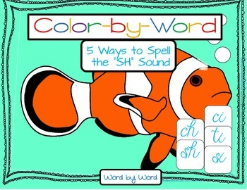 """Advanced Decoding Color by Number Fish 5 Ways to Read """"sh"""" Sound"""