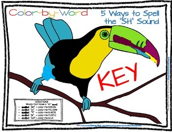 "Advanced Decoding Color by Number Parrot  5 Ways to Read ""sh"" Sound"