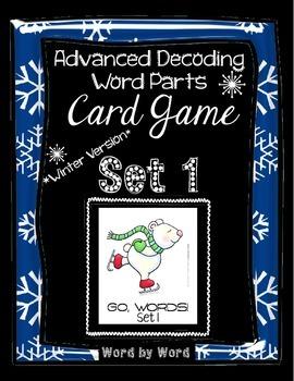 Decoding Multisyllabic Words WORD PARTS CARD GAME WINTER SET 1 Intervention
