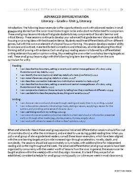 Advanced Differentiation - Literacy - Grade 1, v1.1