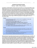 [Grade 1] Literacy - Adv. Differentiation, Unit 1