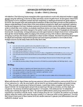 Advanced Differentiation - Literacy - Grade 1, v1.3