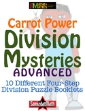 Advanced Division With Remainders Mystery Booklets: 10 Different