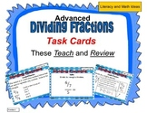 (Advanced) Division of Fractions Task Cards
