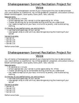 Advanced Drama Shakespearean Sonnet Recitation Performance