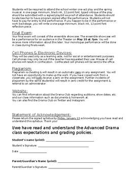 Advanced Drama Syllabus