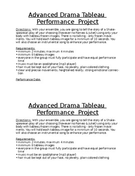Advanced Drama Tableau Performance