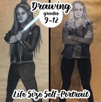 Advanced Drawing - Life Sized Self-Portraits