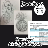 Advanced Drawing - Weekly Sketchbook Assignments, Semester long