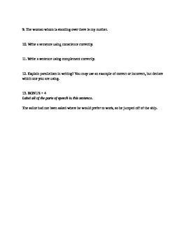 Advanced English Quiz