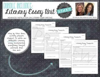 Advanced Essay Units Bundle - Literary & Argument Essay Types