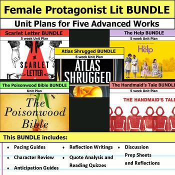 Advanced Female Protagonist Literature Unit Bundle