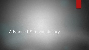 Advanced Film/Video Vocabulary Powerpoint