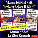 Gifted Math Resource Bundle! Hundreds of Advanced Math Problems!