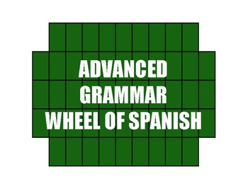 Advanced Spanish Grammar Wheel of Spanish