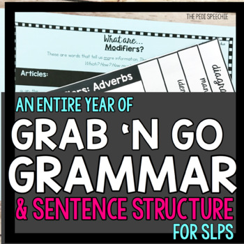 Grammar | Syntax Activities | Speech Therapy | Middle School Speech Therapy