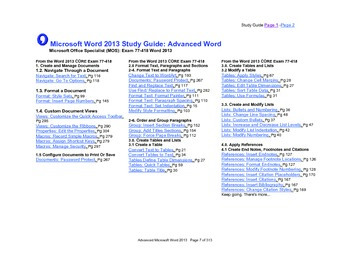 Microsoft Word 2013 Advanced