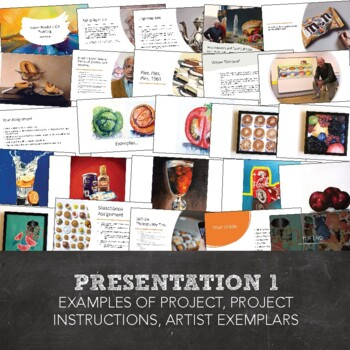 Advanced High School Art or AP Art: Hyper Realistic Food Study Oil Painting