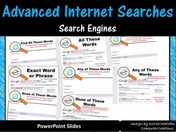 Advanced Internet Searches Task Sheets & PowerPoint - ISTE 2016 Aligned