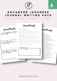 Advanced Japanese Journal Writing Pack