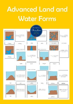 Advanced Land and Water Forms 5 Part Cards